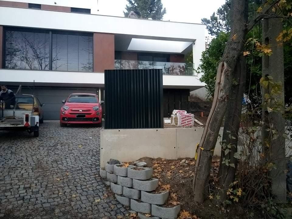 minimál stílusú kerítés, kerítés