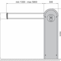 DITEC QIK B37 3700mm-es alumínium kar